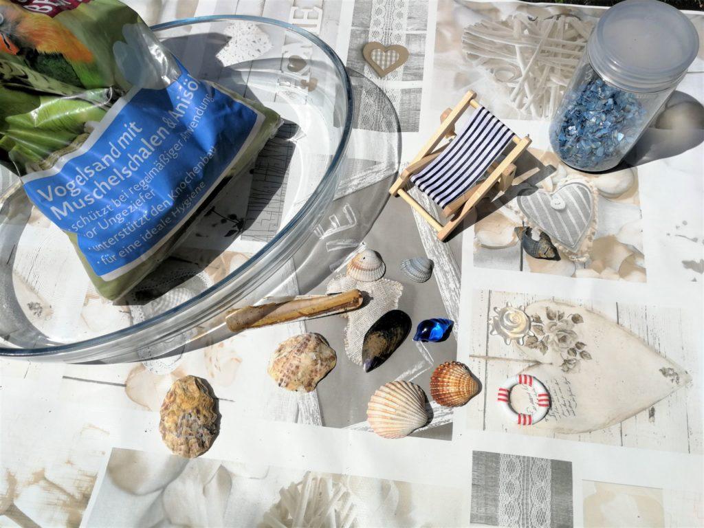 Materialien Miniatur-Strand