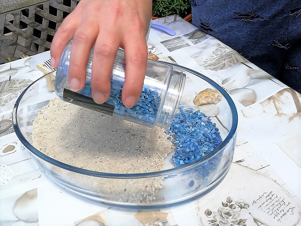 Wasser für den Miniatur-Strand